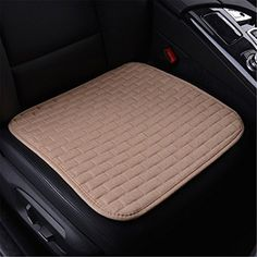 Fochutech Car Linen Front Seat Cover Pad Mat Cushion Universal Fit Breathable Blanket Nonslip Auto Truck Suv Van Office Beige -- Learn more by visiting the image link.