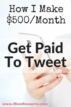 Make Money Online: Get Paid To Tweet! If you want to make money online, you can use Twitter to make money from home. Who doesn't want to make money from home? Here are 5 ways I make money online using Twitter. You can use these Twitter tips to make money from home too. Don't have a Twitter following yet - no problem! I can help you gain THOUSANDS of your IDEAL followers. This is all for free & it's very much true & verified by other online moms. Don't miss out - make money online starting…