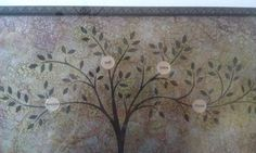 Custom etched metal family tree