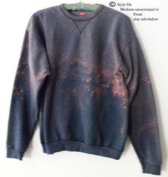 Sweatshirt,  crewneck sweatshirt, Blue crewneck sweatshirt, Dip dye, crewneck sweatshirt, Jumper, Black Friday, Boho, acid wash, Sweatshirt by Styleon on Etsy
