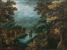 Gillis Van Coninxloo: Village By A River