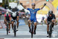 May 13, Stage 4: Giovinazzo - Bari 112km - Nacer Bouhanni (FDJ) wins stage 4 of the Giro d'Italia