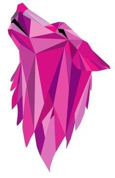 Geometric Wolf, Geometric Drawing, Geometric Painting, Geometric Decor, Geometric Shapes, Polygon Art, Kirigami, String Art, Paper Piecing