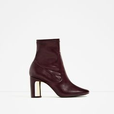 Image 2 of HEEL DETAIL ANKLE BOOTS from Zara