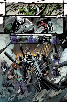 Marvel - Venom Inc. Lee Price Maniac, his snazzy trench coat and his armed Made Men Marvel Venom, Marvel Dc, Marvel Comics, Spiderman Black Suit, All About Me Art, Comic Art, Comic Books, Harry Potter, Batman Beyond