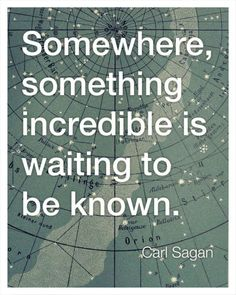 Think this might be my favorite. Carl Sagan Inspirational Quote Print by bredlo on Etsy:
