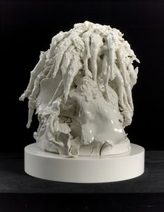 Available for sale from White Cube, Rachel Kneebone, Driving the blind excess of life to the very edge of death Porcelain, 26 × 2 × 22 … Contemporary Ceramics, Contemporary Artists, Modern Art, Fine Porcelain, Porcelain Ceramics, Sculpture Art, Sculptures, Chandelier Art, Process Art