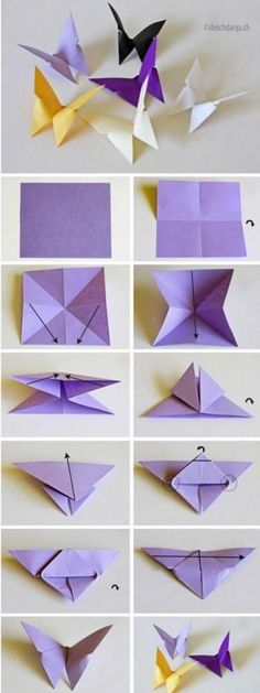 蝶々は折り紙で作ってもいいね♪