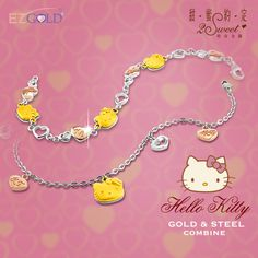 #HelloKitty x EZ GOLD necklace -- Product of Taiwan ^o^