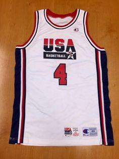 Vintage 1994 Joe Dumars Dream Team USA Authentic Champion Jersey Size 44  pro cut michael jordan penny hardaway charles barkley pistons nba e1d05f2e7