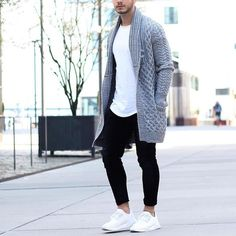 By @louisdarcis [ http://ift.tt/1f8LY65 ] black urban athletic knits sockless beard modernfit