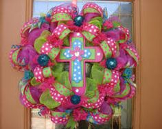 deco mesh wreath - Google Search