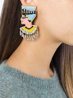 Shourouk 'Nefertiti Bo' clip-on earrings