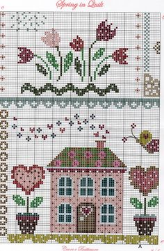 Cross Stitch House, Cross Stitch Tree, Cross Stitch Needles, Cross Stitch Samplers, Cross Stitch Flowers, Counted Cross Stitch Patterns, Cross Stitch Charts, Cross Stitch Designs, Cross Stitching