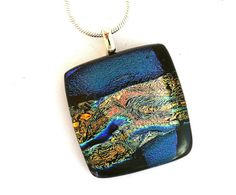 Dichroic Fused Glass Jewelry Fused Dichroic Glass by SassySpark, $27.00