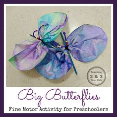 Teaching 2 and 3 Year Olds: Preschool Butterfly Art