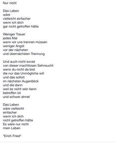 #Gedicht #Erich Fried #Nur nicht