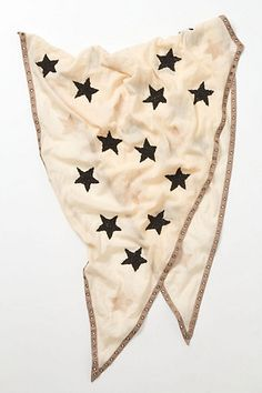 Cream scarf with black stars #fashion #style #accessories