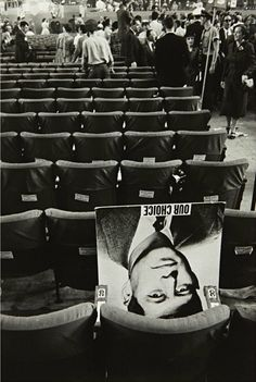 """mpdrolet: Chicago Convention, 1956 Robert Frank """