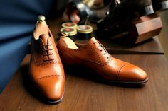lnsee:  Its the new Simpson Semi-brogues in Tan in stock @ the Armoury… Great color to age!! Link