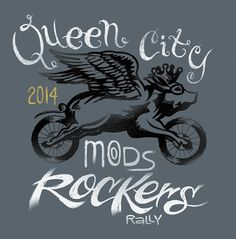 2014 design submission by Shane Jallick ©Shane Jallick 2014   http://queencitymodsvsrockers.com/design-contest-2014/