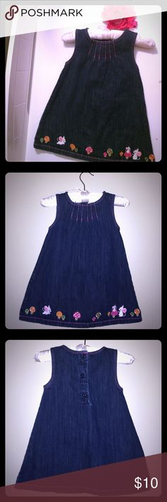 Gymboree Mousey Denim Dress 12-18 Mo How adorable is this little dress from Gymboree? Simple cut, but adorable style. And look at those mice!!! Aw. So adorable. Gymboree Dresses Casual