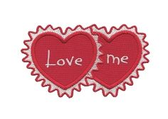 Love Me Heart Applique - 4 Sizes! | Valentine's Day | Machine Embroidery Designs | SWAKembroidery.com Applique for Kids
