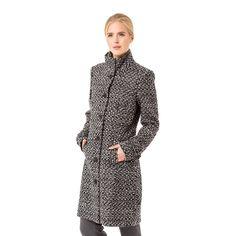Mantel mit Wolle und Jacquard #zerofashion