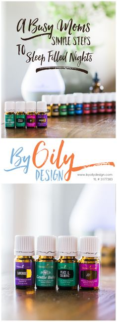 A busy mom's trick to help get their babies and kids to sleep all night. These oils from young living help set the mood for restful sleep for the whole family. Lavender, Gentle baby, Peace and Calming, Joy. Essential oils beyond the starter kit. byoilydesign.com YL# 3177383