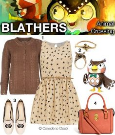 Outfit inspired by Blathers from Animal Crossing