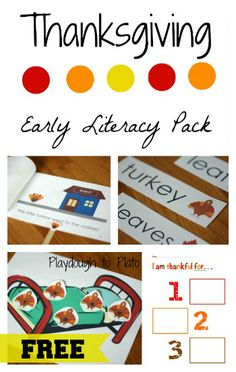 Free Printable Thanksgiving Activity Pack. {Playdough To Plato}