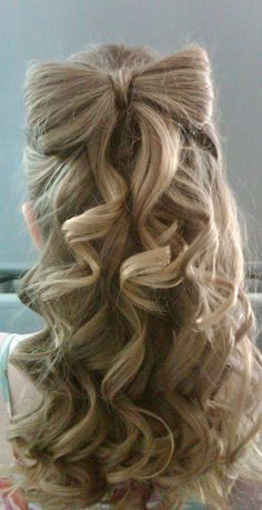 My absolute favorite updo to do. Really easy to do and can either be casual party bow or elegant updo.