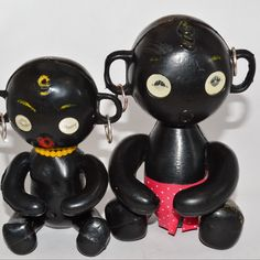 Early Winky Dakkochan blinking eye dolls 1960's... pre - p.c.