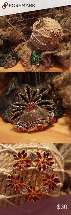 Vintage Christmas Tree Rhinstone  Brooch Vintage Christmas Tree Rhinstone  Brooch Vintage Jewelry Brooches