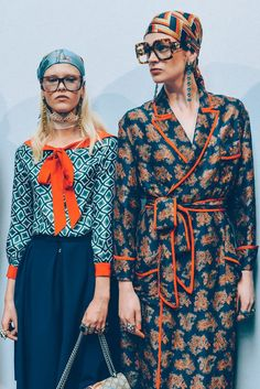 Tommy Ton - GUCCI MEN'S SPRING/SUMMER 2016 I love the pattern and color combo on the left!