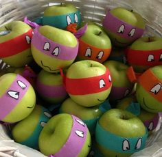 If you have a little TMNT in the house, why not send these little guys in for a class party rather than cupcakes! Make fruit fun!