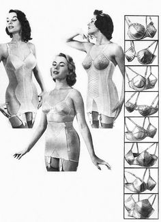 1950s-1957 girdles and bras