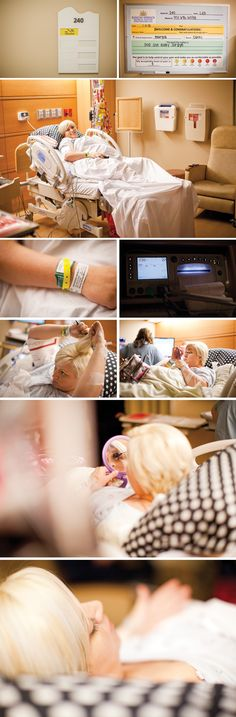 Perfect hospital pictures before having the baby. details.