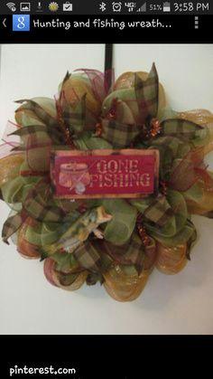 Fishing wreath