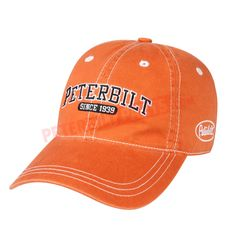 84a4a2b1cb4 PETC600312-00 Peterbilt Collegiate Cap Burnt Orange Orange Hats