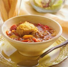 lentil_stew w/cornbread dumplings