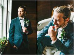 Silver & Gold Inspiration | Utah Wedding Photographer | Groomals | groom portraits | Groom | Man Bun | Tuxedo | Blue tuxedo | Wedding day groom | www.nhiyakayephotography.com
