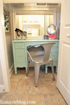 Pretty vanity area - so organized