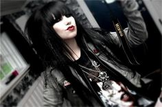 black hair, emo, girl, goth, gothic, pretty - inspiring picture on Favim.com