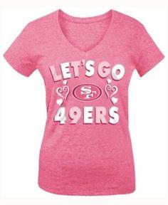 5th & Ocean Girls' San Francisco 49ers Pink #1 Fan T-Shirt - Pink L
