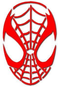 Spiderman logo/emblem vinyl sticker by vinylstickers on Etsy Skull Stencil, Stencil Art, Stenciling, Stencil Patterns, Stencil Designs, Silhouette Cameo Projects, Silhouette Design, Spiderman Pumpkin Stencil, Spiderman Tattoo
