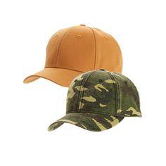 6fd92e51ffc George Men s Canvas  amp  Camo Baseball Hat 2-Pack