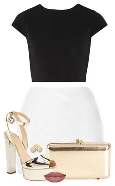 """Untitled #39"" by findingfantasyluxe ❤ liked on Polyvore featuring Rodarte, Alice + Olivia, Serpui, Giuseppe Zanotti and Loushelou"