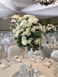 Bliss Floral Creations is a Johannesburg based boutique florist specialising in personalised wedding and event flowers Tall Centerpiece, Centerpieces, Table Decorations, Cream Flowers, Personalized Wedding, Bliss, Floral Design, Home Decor, Center Pieces