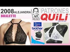 DIY : Como hacer un bralette Lingerie Patterns, Sewing Lingerie, Diy Lace Halter Bralette, Sewing Clothes, Diy Clothes, Ropa Interior Boxers, Bra Hacks, Bra Pattern, Dress Tutorials